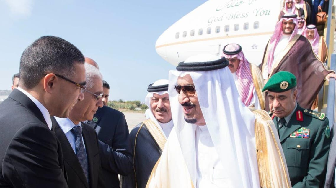 King Salman arrives in Tangier coming from U.S.