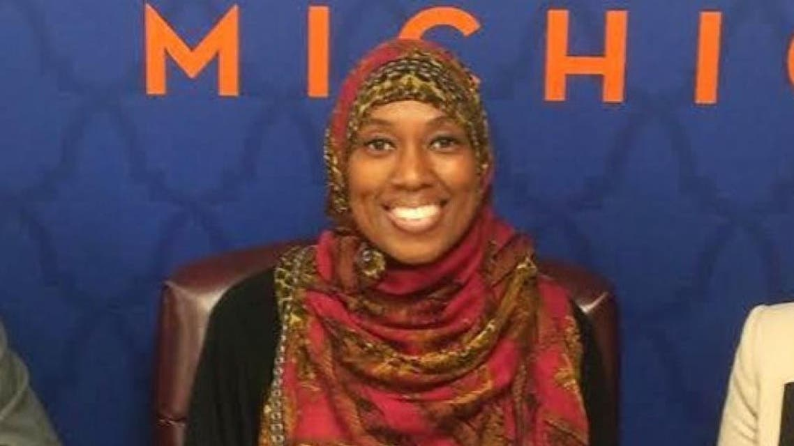 """Charee Stanley says the complaint lodged against her by a fellow flight attendant was discriminatory, citing her head scarf and that she carried a book with """"foreign writings"""". (Photo: Council on American-Islamic Relations)"""