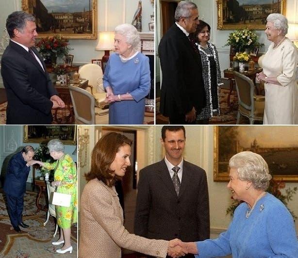 مع ملك الأردن عبد الله الثاني، والرؤساء اللبناني السابق ميشال سليمان والسوري بشار الأسد والجزائري عبد العزيز بوتفليقة