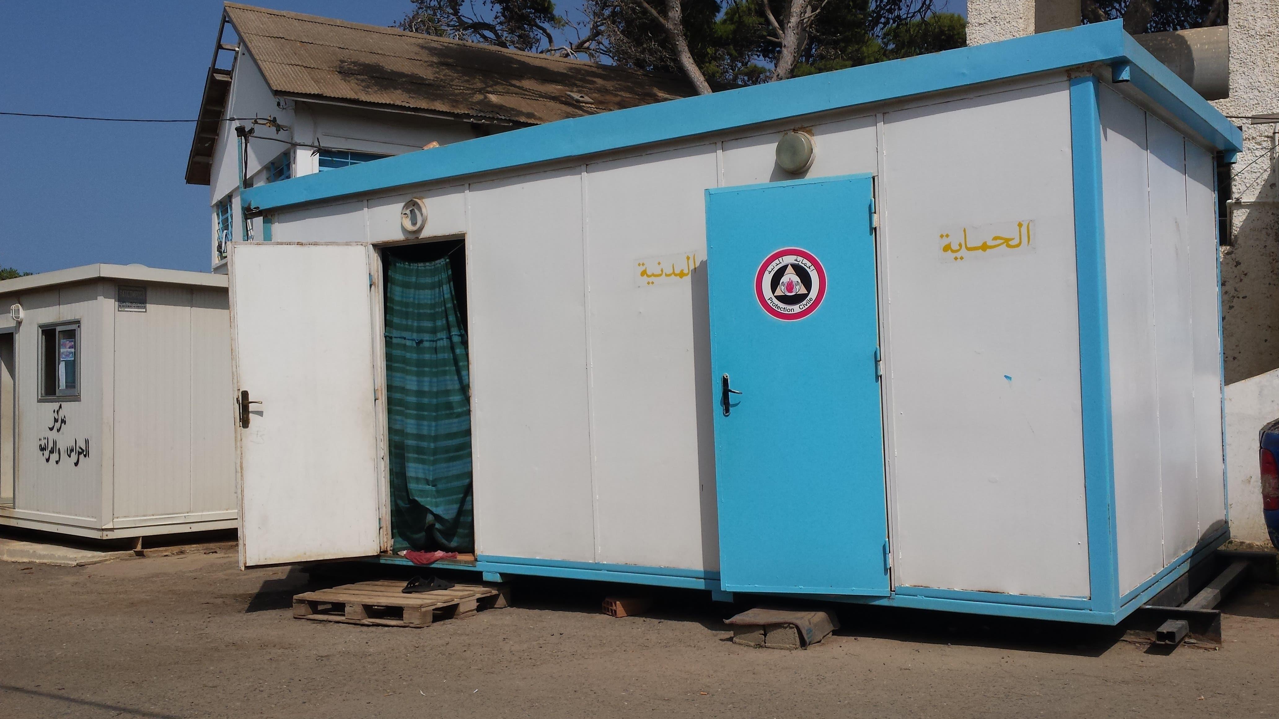 مشهد من مركز إيواء السوريين في سيدي فرج بالجزائر