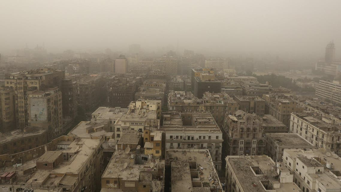 A general view shows buildings during a sandstorm in the city of Cairo, Egypt, September 8, 2015.  (Reuters)