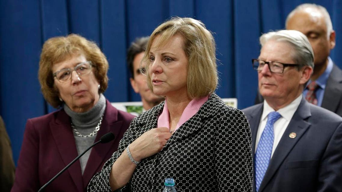 Debbie Ziegler, center, the mother of Brittany Maynard, speaks in support of proposed legislation allowing doctors to prescribe life ending medication to terminally ill patients