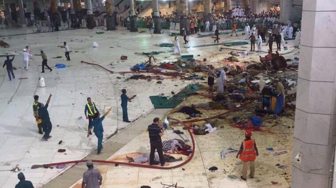 makkah crane collapse Al Arabiya