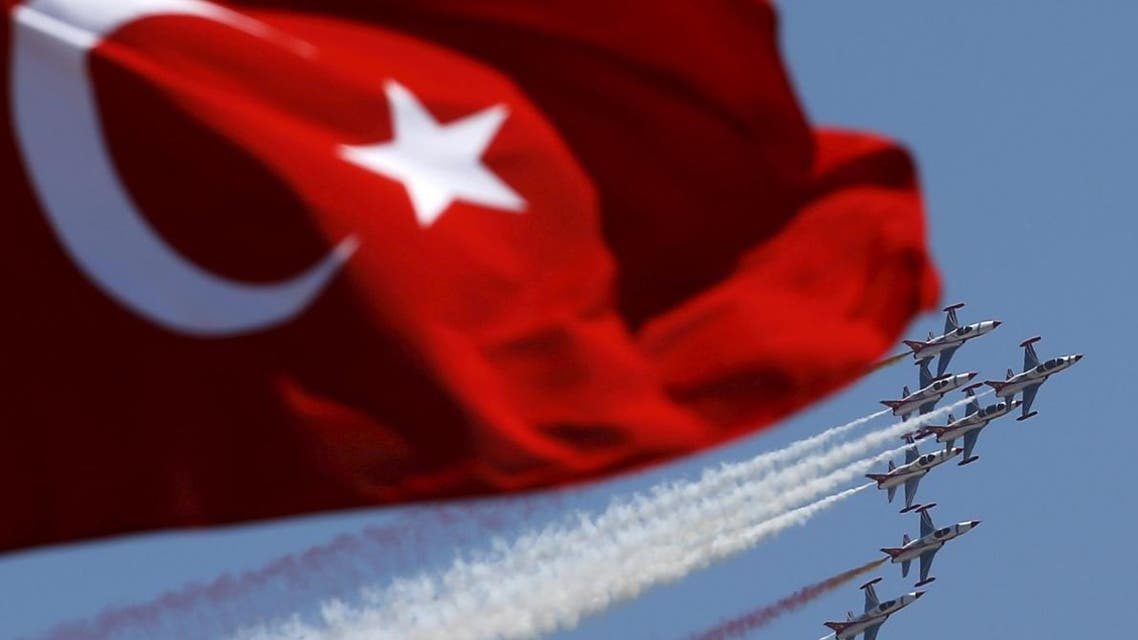 Turkish Stars, the aerobatic team of the Turkish Air Force, perform a manoeuvre during a ceremony marking the 93rd anniversary of Victory Day in Ankara, Turkey, August 30. (File photo: Reuters)