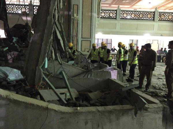 حادثه سقوط جرثقیل در مسجد الحرام