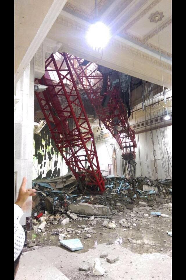 makkah crane collapse Al Arabiya
