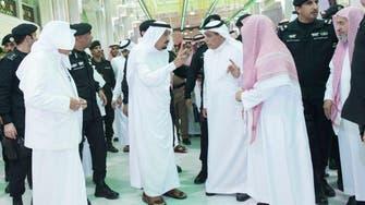 King Salman visits site and injured in tragic crane crash