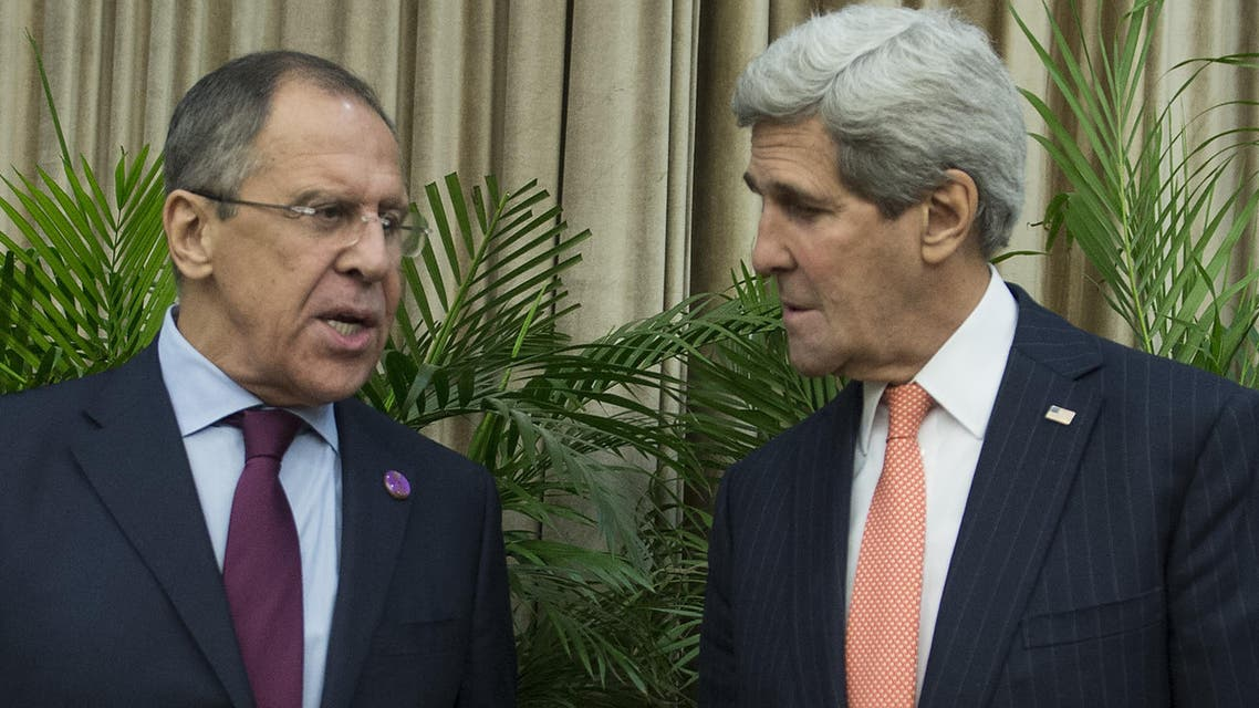 U.S. Secretary of State John Kerry, right, and Russian Foreign Minister Sergei Lavrov