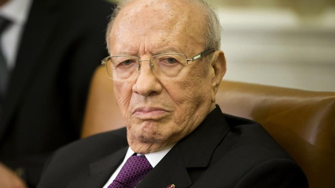 Tunisian President Beji Caid Essebsi listens during his meeting with President Barack Obama in the Oval Office of the White House in Washington, Thursday, May 21, 2015. (AP Photo/Pablo Martinez Monsivais)