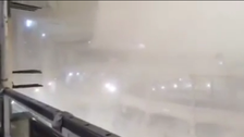 Video from inside Makkah's Grand Mosque shows crane collapse