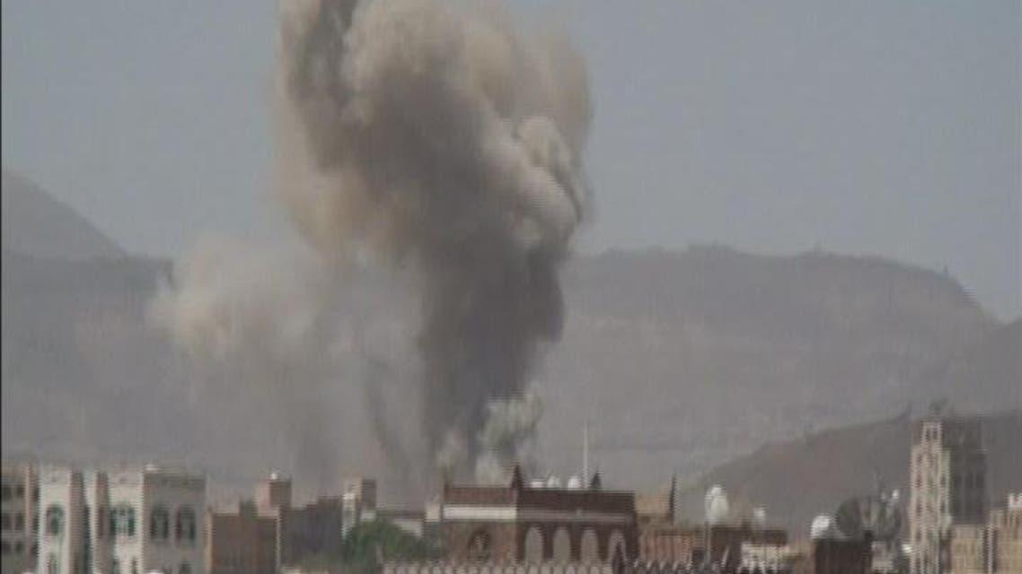 THUMBNAIL_ غارات عنيفة على صنعاء والحديدة وإب