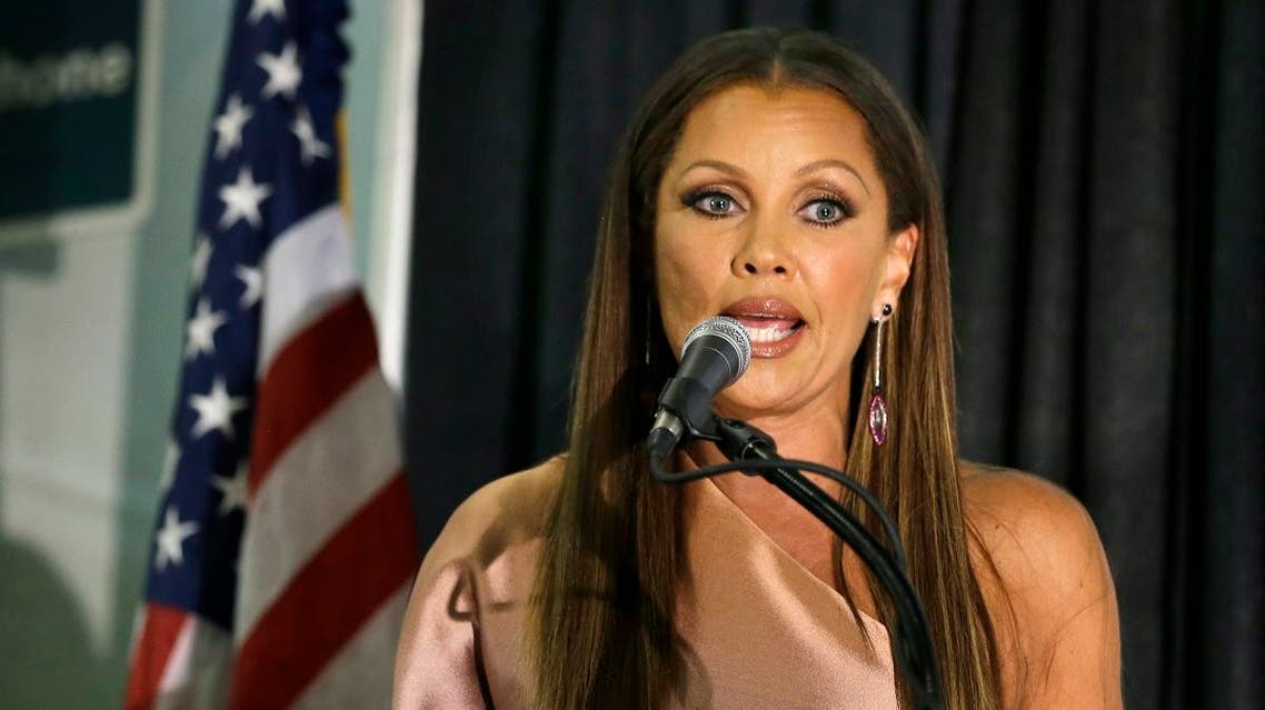 Former Miss America Vanessa Williams addresses a gathering after he Miss America 2016 pageant, Sunday, Sept. 13, 2015,