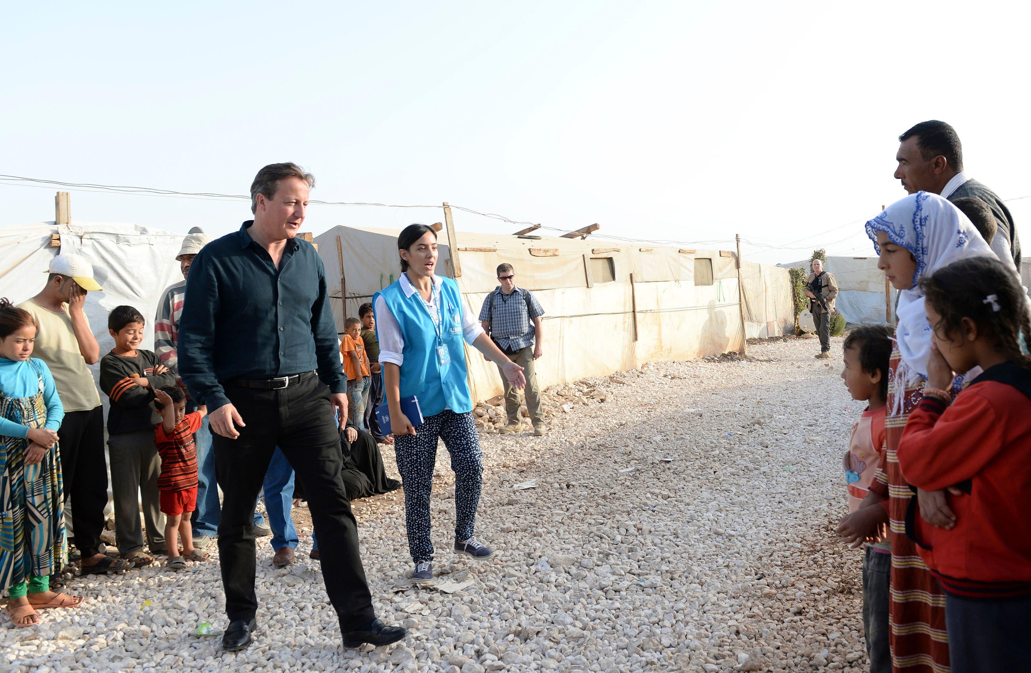 Cameron visits refugee camp