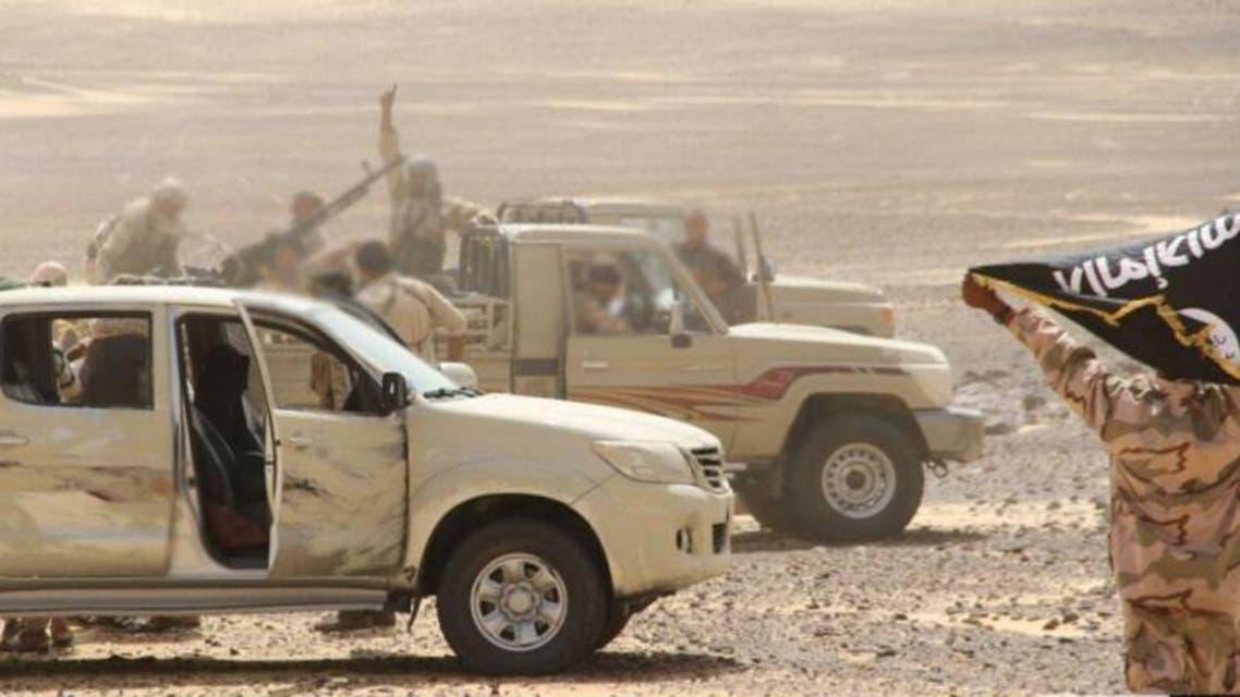 صورة لاعضاء تنظيم داعش في المنطقة التي وقعت بها العملية أمس