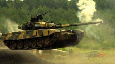 أخطر دبابة روسية تغوص في الماء لإنقاذ الأسد الغريق