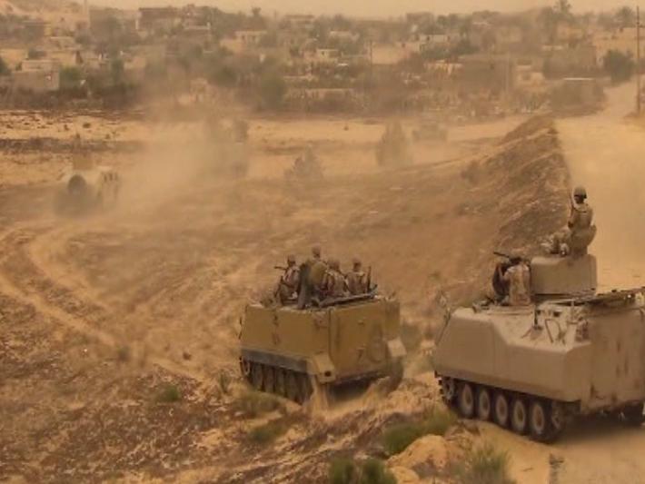 عمليات سابقة للجيش المصري في سيناء