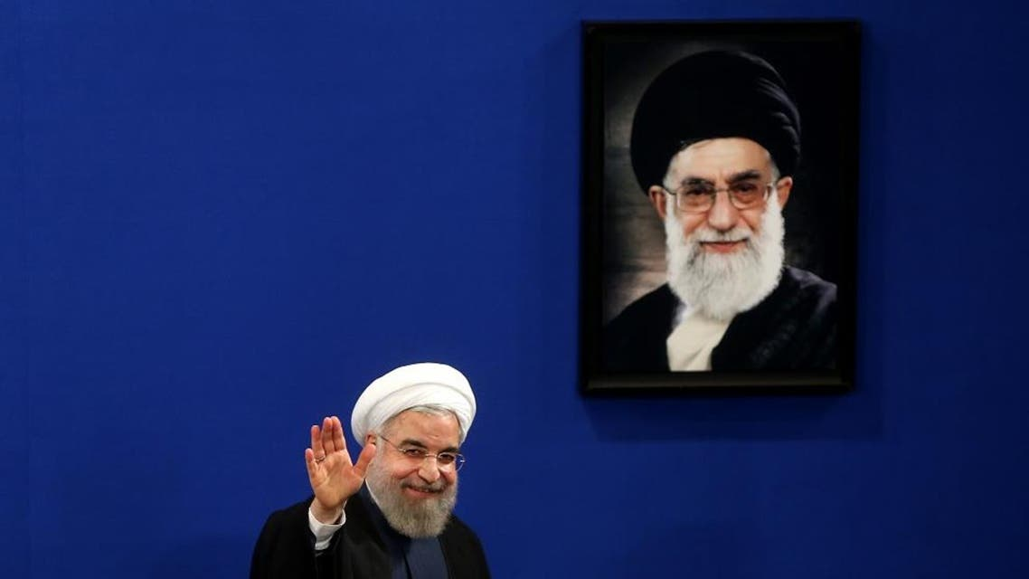 """In this Saturday, Aug. 29, 2015 file photo, Iran's President Hassan Rouhani waves to reporters at the conclusion of his press conference in Tehran, Iran. Rouhani sent greetings to the Jewish people on the occasion of Rosh Hashana, the Jewish new year. Early Monday morning, Sept. 14, 2015, Rouhani's Twitter account posted the message, """"May our shared Abrahamic roots deepen respect and bring peace and mutual understanding. L'Shanah Tovah."""" (AP Photo/Ebrahim Noroozi)"""