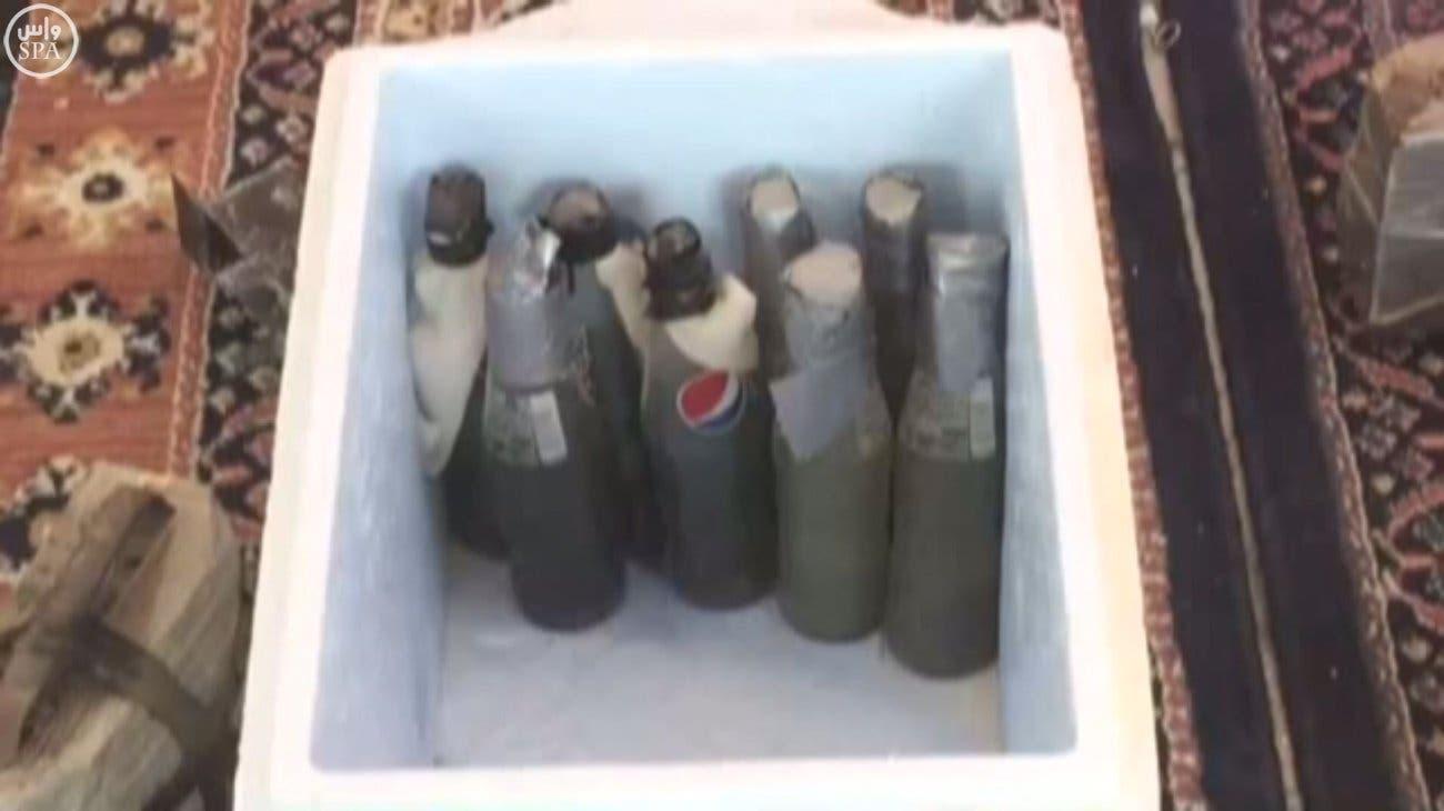 مهمات کشف و ضبط شده از هسته داعش در سعودی