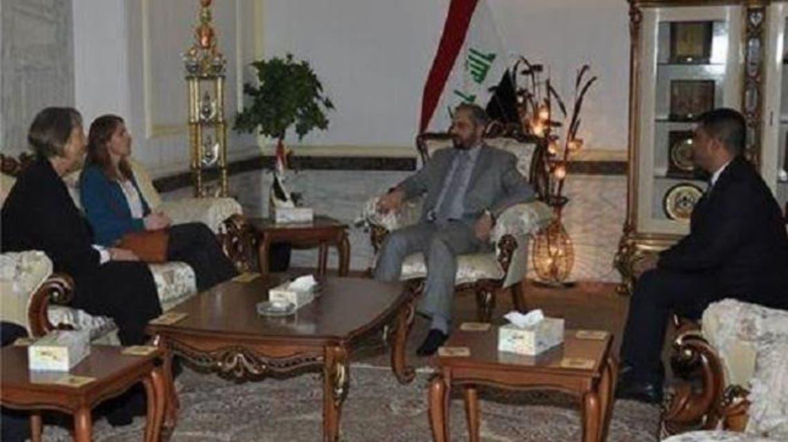 وزير العدل العراقي، حاكم الزاملي، مع وفد المملكة المتحدة