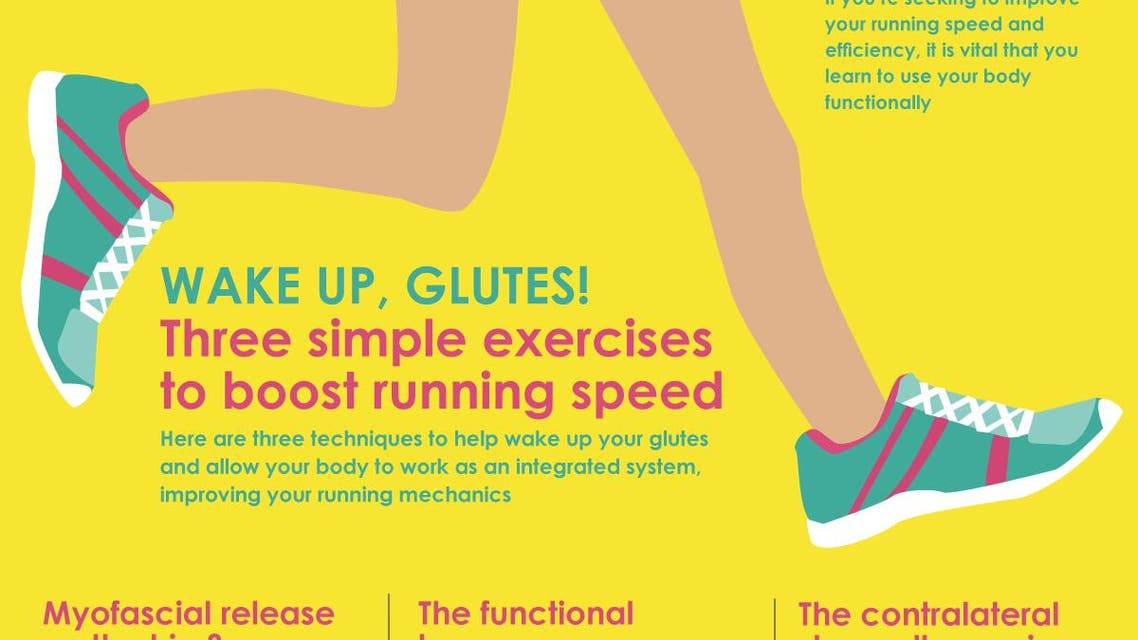 Infographic: Wake up, glutes! Three simple exercises to boost running speed