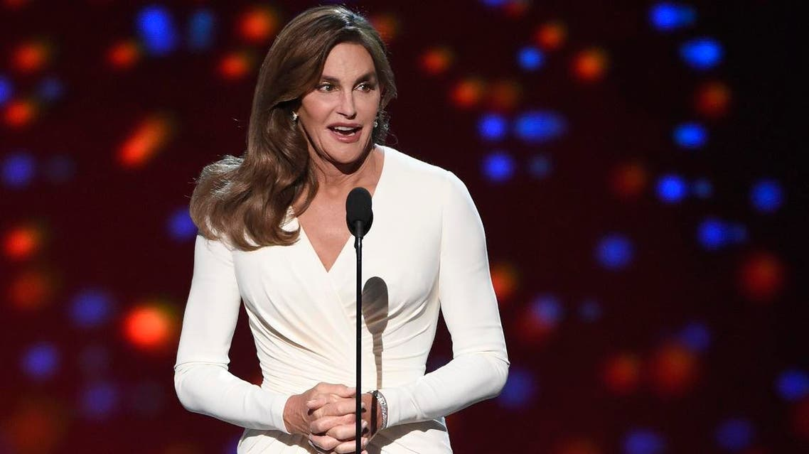 Caitlyn Jenner accepts the Arthur Ashe award for courage at the ESPY Awards at the Microsoft Theater, in Los Angeles.