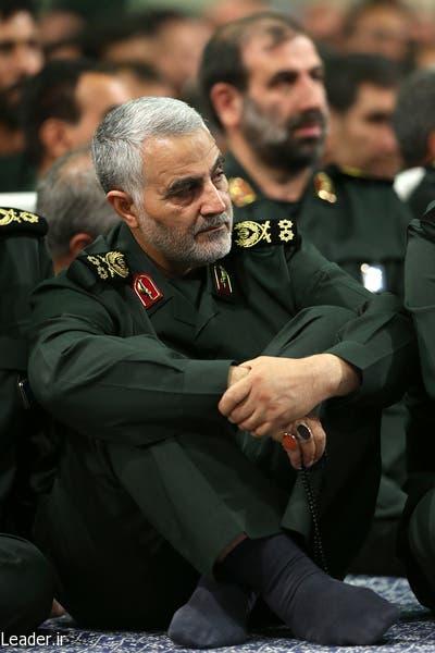 قاسم سليماني في اجتماع قادة الحرس مع خامنئي