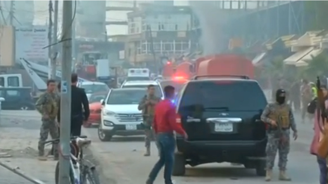 A car bombing claimed by ISIS in April killed three people outside the U.S. consulate in Erbil. (Reuters)