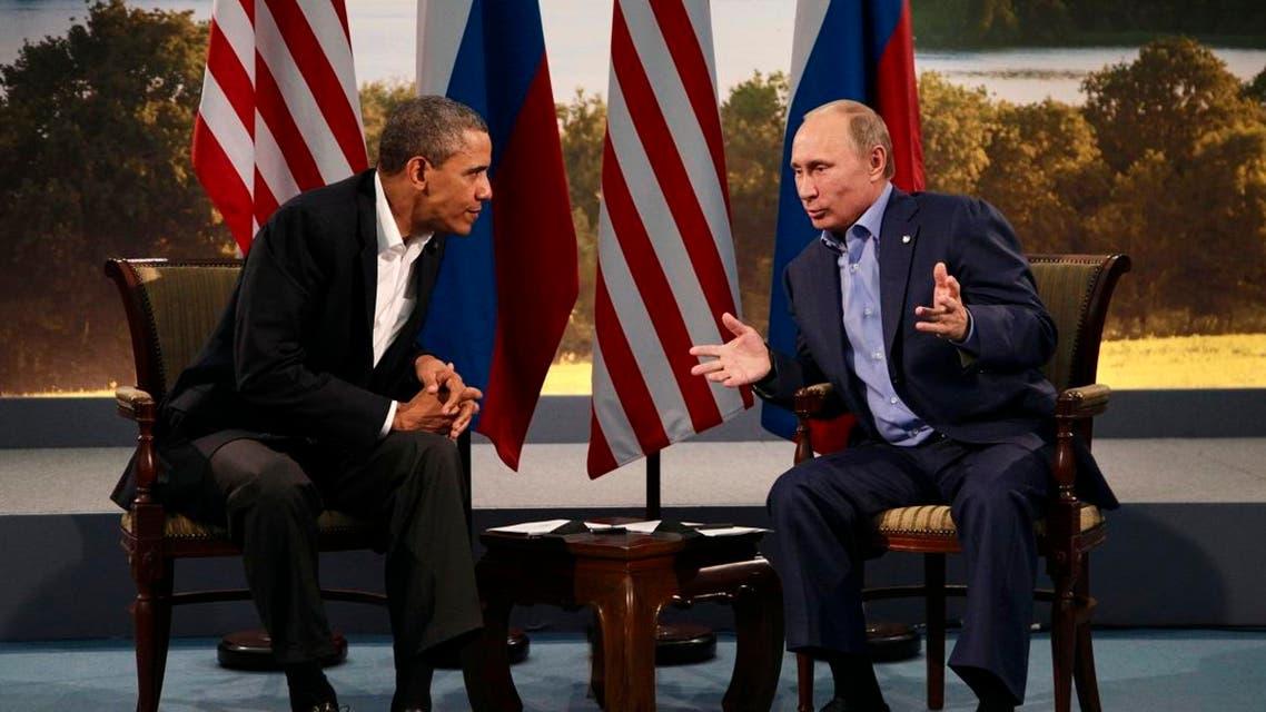 President Barack Obama meets with Russian President Vladimir Putin in Enniskillen, Northern Ireland, Monday, June 17, 2013. (AP)