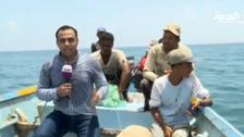 """كاميرا """"العربية"""" تقف على معاناة الصيادين في #عدن"""