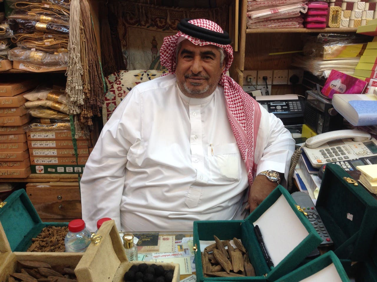 Musaad Mujahed, one of the souk's veteran salesmen. (Photo: Miles Lawrence)