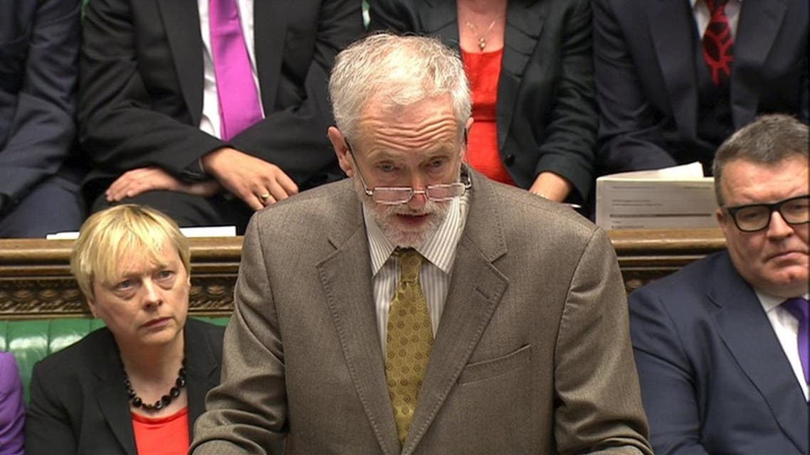Jeremy Corbyn, the new leader of Britain's opposition Labour Party takes part in his first Prime Minister's Questions in the House of Commons in Westminster, London, September 16, 2015. reuters