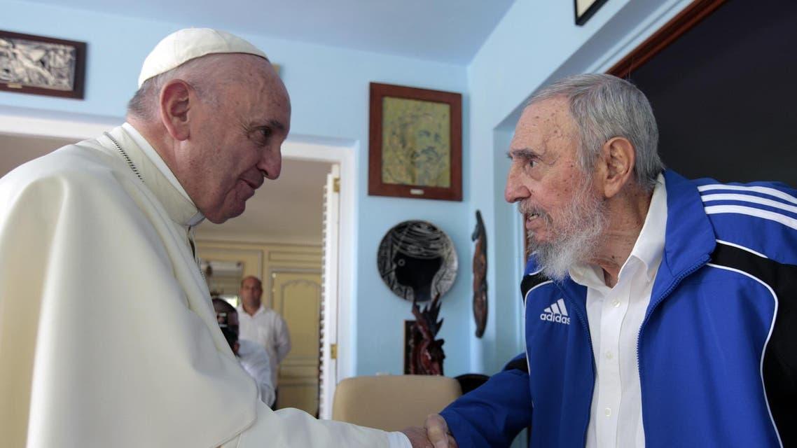 البابا يزور فيدل كاسترو في هافانا
