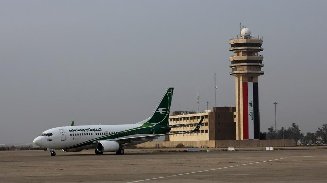 An Iraqi Airways plane arrives at Baghdad airport, Iraq. (File photo: AP)
