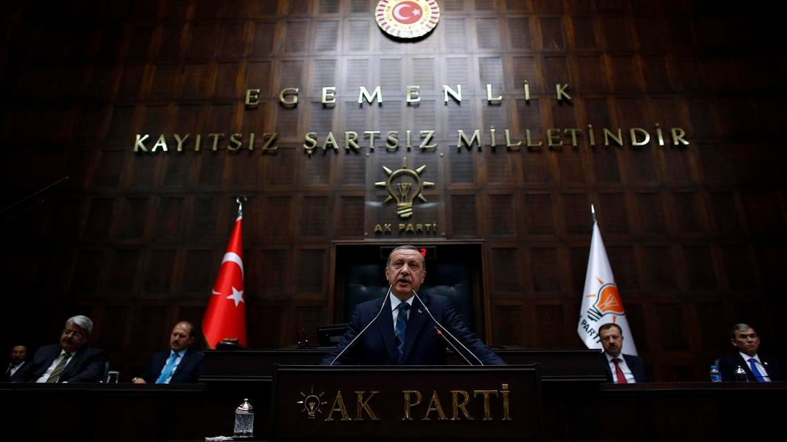 Tayyip Erdogan addresses members of parliament from his ruling AK Party (AKP) during a meeting at the Turkish parliament in Ankara June 17, 2014. (File photo: Reuters)