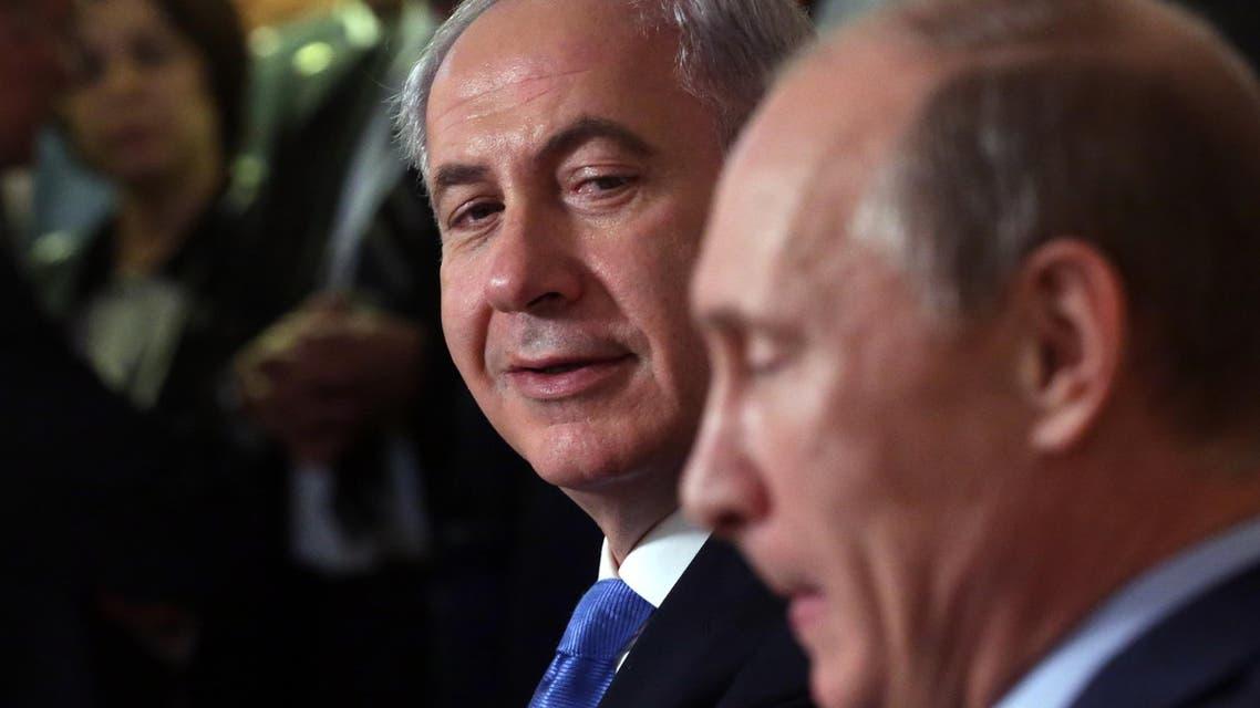 Vladimir Putin and netanyahu file photo AP
