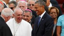 Met by Obama, Pope Francis arrives in U.S.