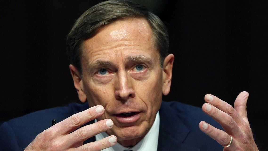 Washington, District of Columbia, UNITED STATES : WASHINGTON, DC - SEPTEMBER 22: Retired US Army Gen. David Petraeus speaks during a Senate Armed Services Committee hearing on Capitol Hill September 22, 2015 in Washington, DC. The hearing focused on United States Middle East Policy. Mark Wilson/Getty Images/AFP