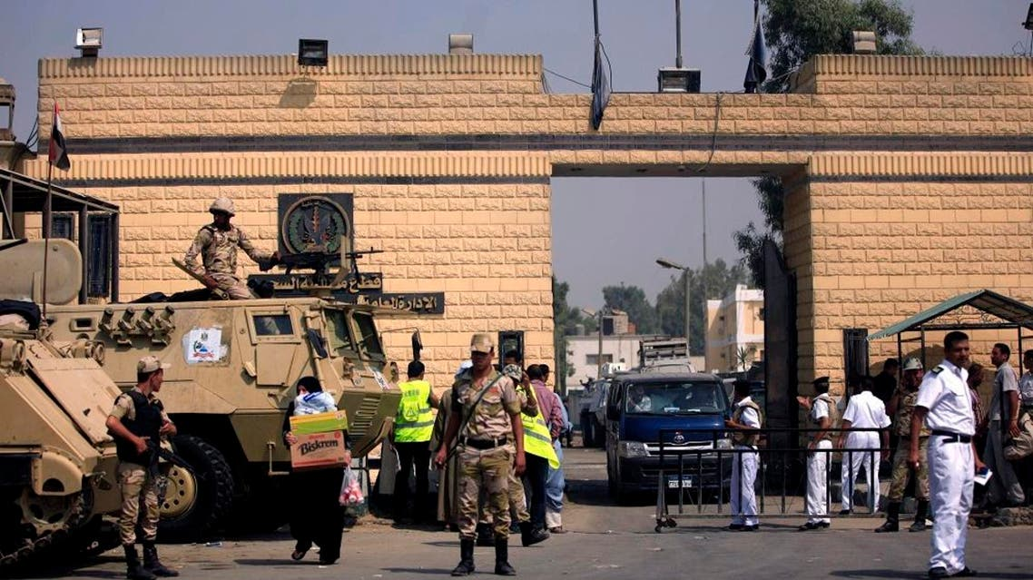 Egyptian army soldiers guard Tora prison complex, of which the high-security al-Aqrab facility is part. (File photo: AP)