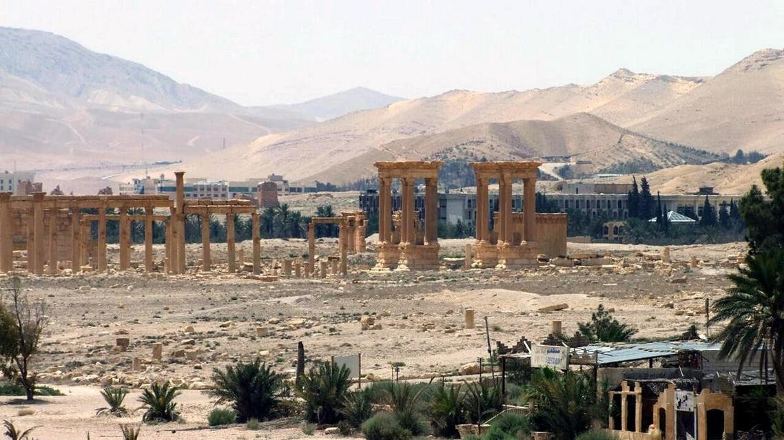 This file photo released on Sunday, May 17, 2015, by the Syrian official news agency SANA, shows the general view of the ancient Roman city of Palmyra, northeast of Damascus. (SANA via AP)
