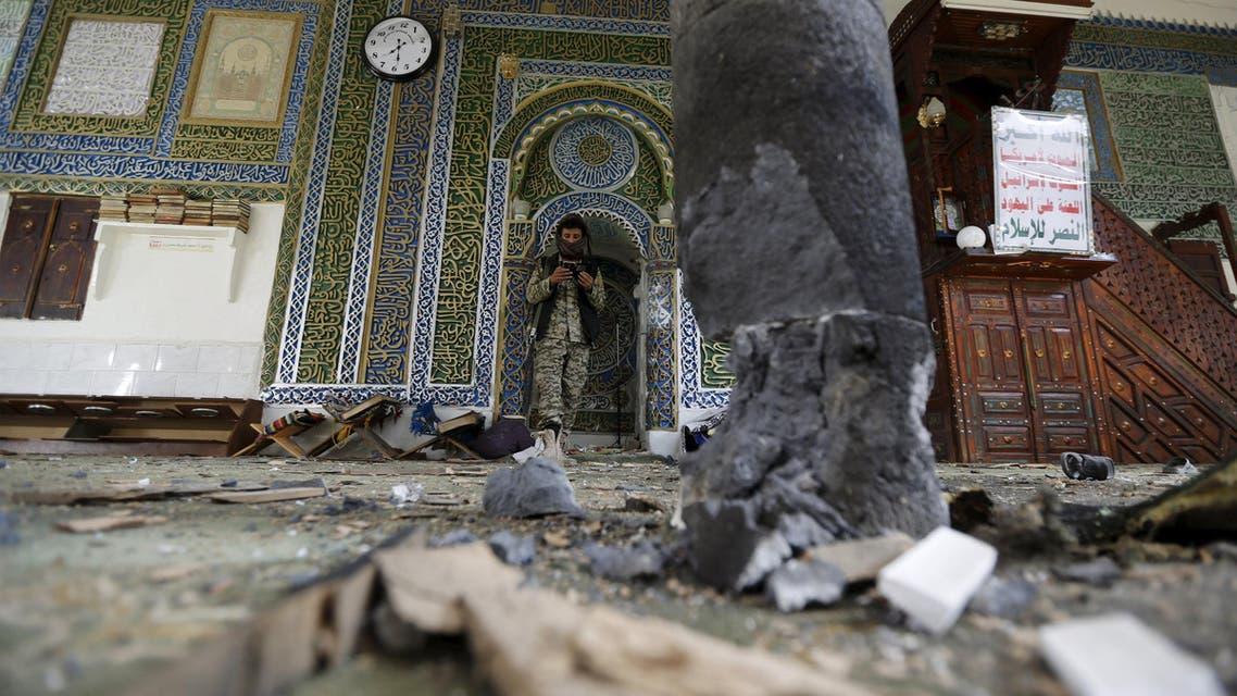 انفجار في مسجد البليلي في صنعاء