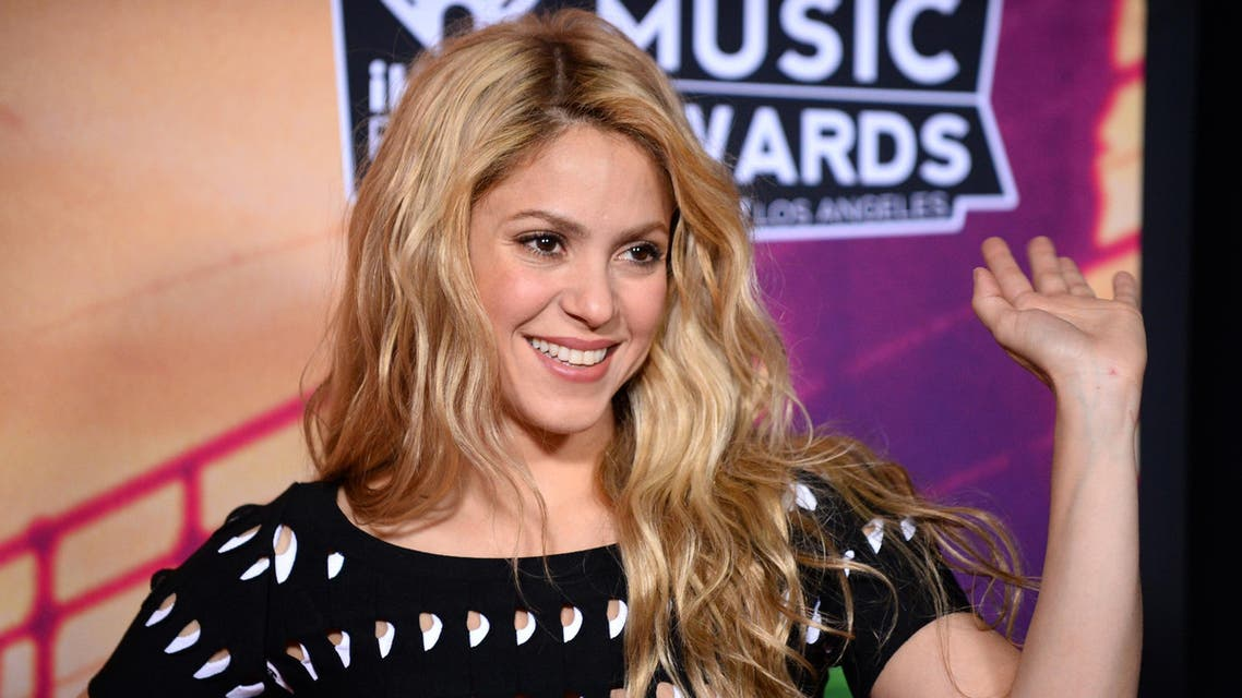Shakira poses in the press room at the iHeartRadio Music Awards at the Shrine Auditorium on Thursday, May 1, 2014, in Los Angeles. AP