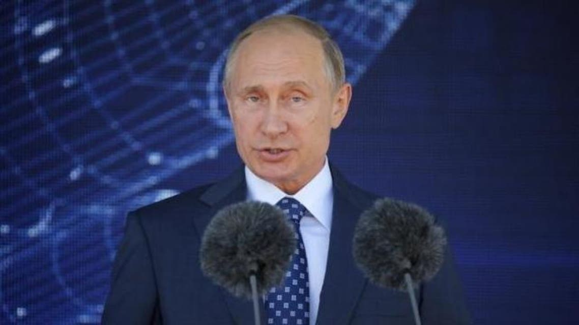 Russian President Vladimir Putin delivers a speech during an opening ceremony of the MAKS International Aviation and Space Salon in Zhukovsky, outside Moscow, Russia, August 25, 2015. Reuters