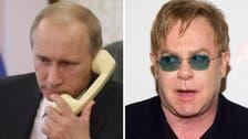 Putin calls Elton John - and this time it's real says Kremlin