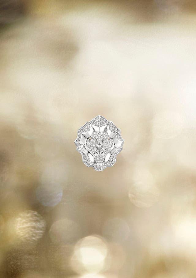 Lion Pépite ring WG S