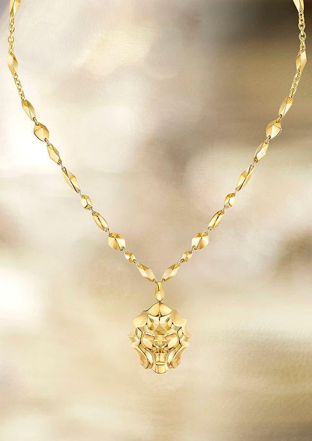 Lion Pépite necklace YG