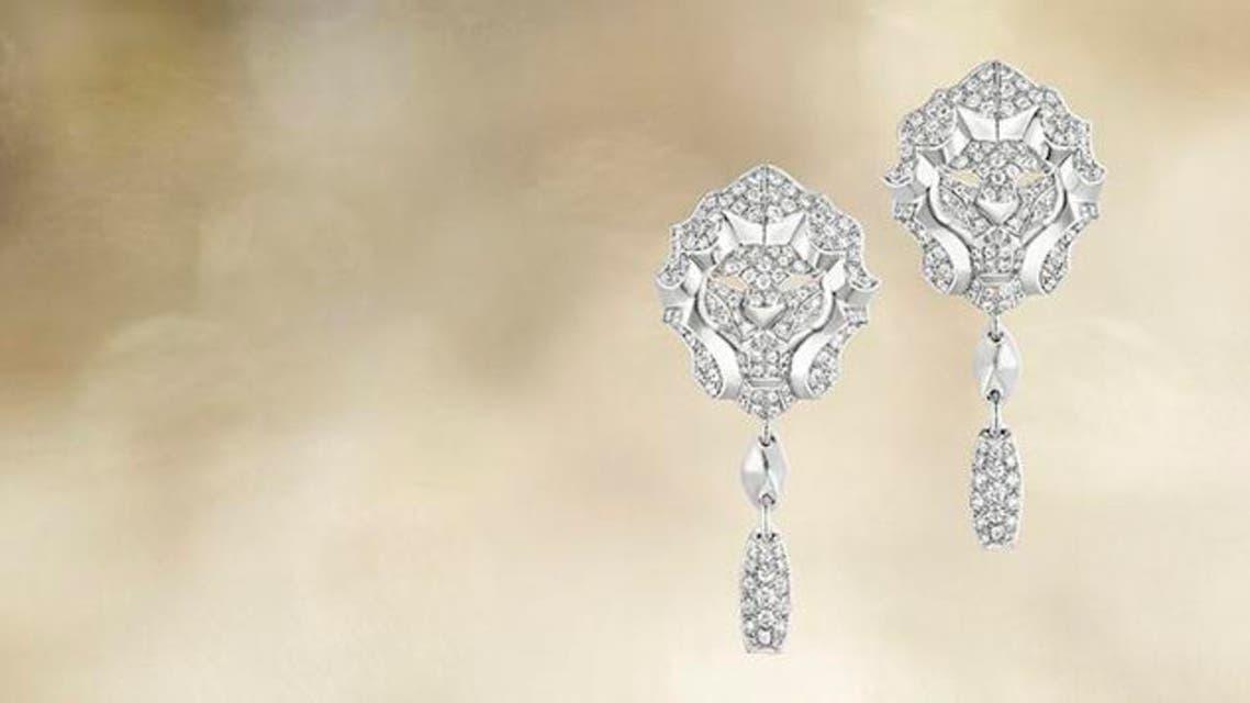 Lion Pépite earrings WG