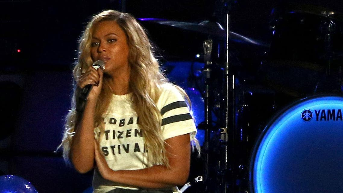 Beyonce perform at the Global Citizen Festival in Central Park on Saturday, Sept. 26, 2015, in New York. ap