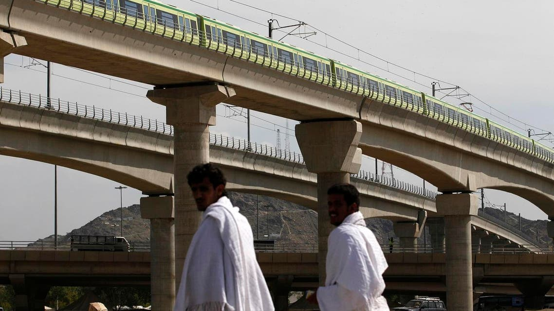 fficial said that a total of 35 trains will be used to transport two million pilgrims, in addition to millions of Umrah pilgrims.