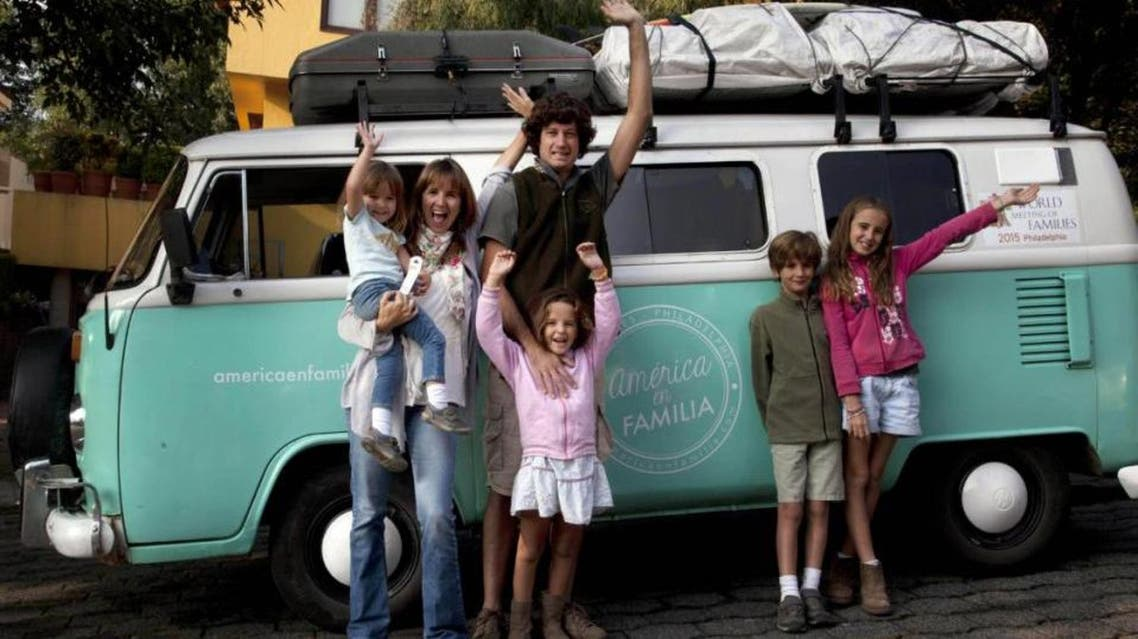 The family piled into the van in March in Buenos Aires, Argentina, traveling 13,000 miles to see Pope Francis in Philadelphia and attend the Festival of Families. (File photo: AP)