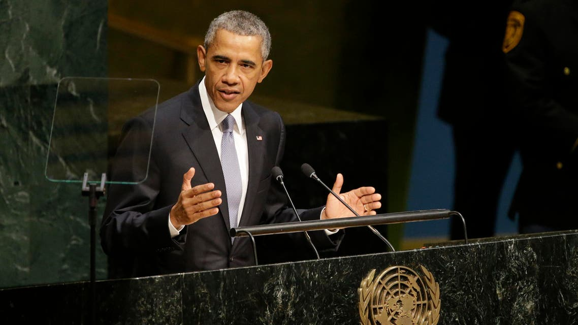 United States President Barack Obama addresses the 70th session of the United Nations General Assembly at U.N. headquarters, Monday, Sept. 28, 2015. (AP)
